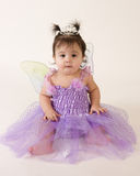 Fairy princess with funny expression. Beautiful baby girl in princess fairy costume Royalty Free Stock Images