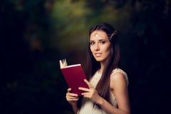 Fairy Princess Girl Reading Story Book Royalty Free Stock Photos