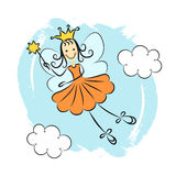 Fairy princess with magic wand Stock Image