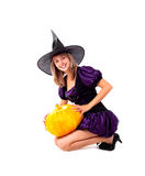 Fairy with a pumpkin Stock Photo