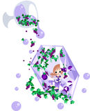 The fairy of purple jewel Royalty Free Stock Images