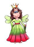 Fairy Queen. Hand painted illustration of a fairy queen character Stock Image