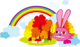 Fairy rabbit. Vector illustration of fairy rabbit Stock Photography