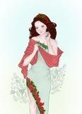 Fairy Rose. A lovely fairy with roses Stock Photos