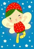 Fairy rosso felice della lucciola Fotografie Stock