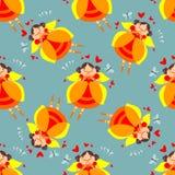 Fairy seamless pattern Stock Photo