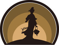 Fairy silhouette Stock Photo