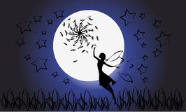 Fairy silhouette Royalty Free Stock Image