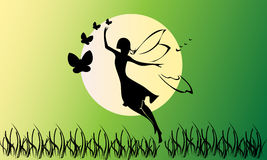 Fairy silhouette Stock Images