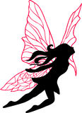 Fairy Silhouette Illustration Royalty Free Stock Image