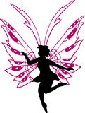 Fairy Silhouette Illustration. On white background Stock Photo