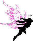 Fairy Silhouette Illustration. On white background Stock Photos