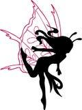 Fairy Silhouette Illustration. On white background Royalty Free Stock Photo