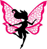 Fairy Silhouette Illustration. On white background Stock Images