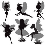 Fairy Silhouette Set Stock Photo