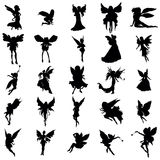 Fairy silhouette set Stock Images