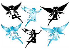 Fairy silhouettes vector illustration