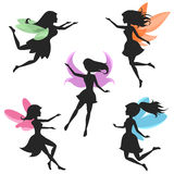 Fairy silhouettes vector royalty free illustration
