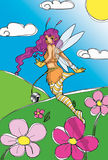 Fairy in the sky Royalty Free Stock Image