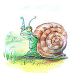 Fairy snail royalty free stock photos