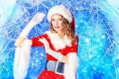 Fairy snow girl royalty free stock photo