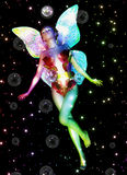 Fairy with soap bubbles Royalty Free Stock Photography
