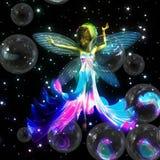 Fairy with soap bubbles Stock Photos