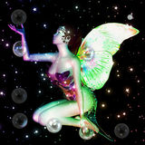 Fairy with soap bubbles Royalty Free Stock Photos
