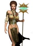 Fairy Sorceress. 3D render of a young fairy sorceress Royalty Free Stock Image