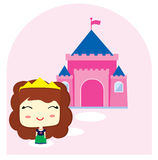 Little Princess and her castle Royalty Free Stock Photo