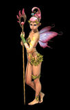 Fairy with Staff, 3d Computer Graphics Stock Photo