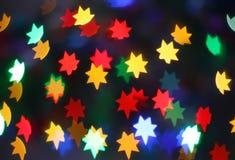Fairy stars. Neon fairy stars - holiday background Stock Photo