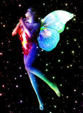 Fairy in stars Stock Image