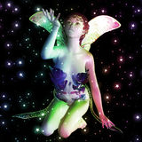 Fairy in stars Royalty Free Stock Images