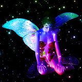 Fairy in stars Stock Photography