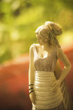Fairy statue. Elegant fairy girl statue made from wood Royalty Free Stock Photos