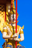 Fairy Statue at Royal Cremation Structure , Bangkok in Thailand. Fairy Statue at Royal Cremation Structure  with Blue Sky, Bangkok in Thailand Royalty Free Stock Image