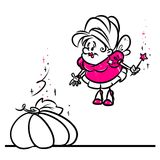 Fairy story Cinderella pumpkin cartoon illustration Stock Images