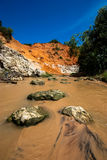 Fairy Stream Canyon. Ham Tien canyon Mui ne, Vietnam stock images