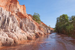 Fairy Stream Canyon. Mui Ne. Vietnam Royalty Free Stock Photo
