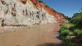 Fairy Stream Canyon in Mui Ne. Vietnam stock video
