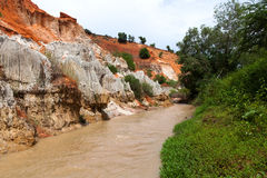Fairy Stream Canyon. Mui Ne. Vietnam Stock Photos