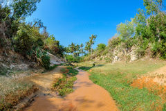 The fairy stream in Mui Ne vietnam Royalty Free Stock Images