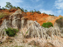 Fairy Stream red canyon in Mui Ne, Vietnam. Red wet mud at the bottom of canyon royalty free stock photos