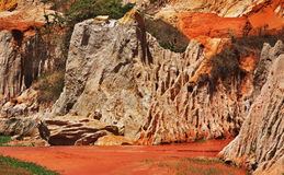Fairy Stream - Red Canyon between Phan Thiet and Mui Ne. Vietnam Stock Photo
