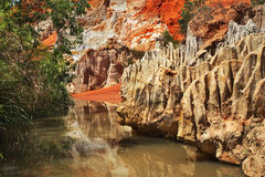 Fairy Stream - Red Canyon between Phan Thiet and Mui Ne. Vietnam Royalty Free Stock Photos