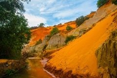 Fairy Stream (Suoi Tien), Mui Ne, Vietnam. One of the tourist attractions in Mui Ne.Beautiful mountains and water Stock Photos
