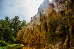 Fairy Stream (Suoi Tien), Mui Ne, Vietnam. One of the tourist attractions in Mui Ne.Beautiful mountains and water Royalty Free Stock Photography