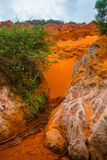 Fairy Stream (Suoi Tien), Mui Ne, Vietnam. One of the tourist attractions in Mui Ne.Beautiful mountains and water Royalty Free Stock Photos
