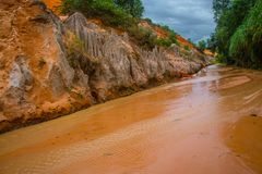 Fairy Stream (Suoi Tien), Mui Ne, Vietnam. One of the tourist attractions in Mui Ne.Beautiful mountains and water Stock Photography